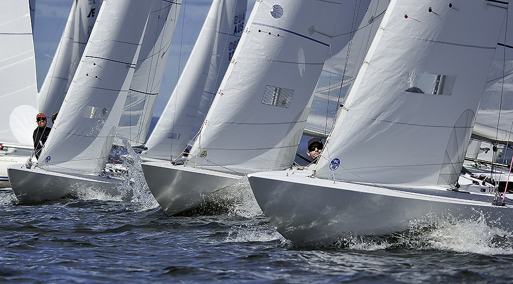 19 vessels competed in the Brisbane Etchells Fleet Championship