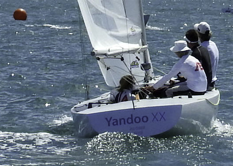 Jeanne-Claude Strong, Marcus Burke, Seve Jarvin and Ashleigh Swadling aboard Yandoo XX
