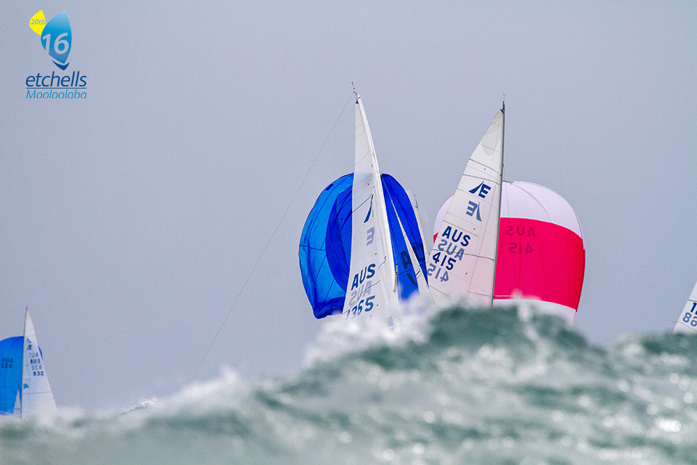 Boisterous conditions on the last day of racing