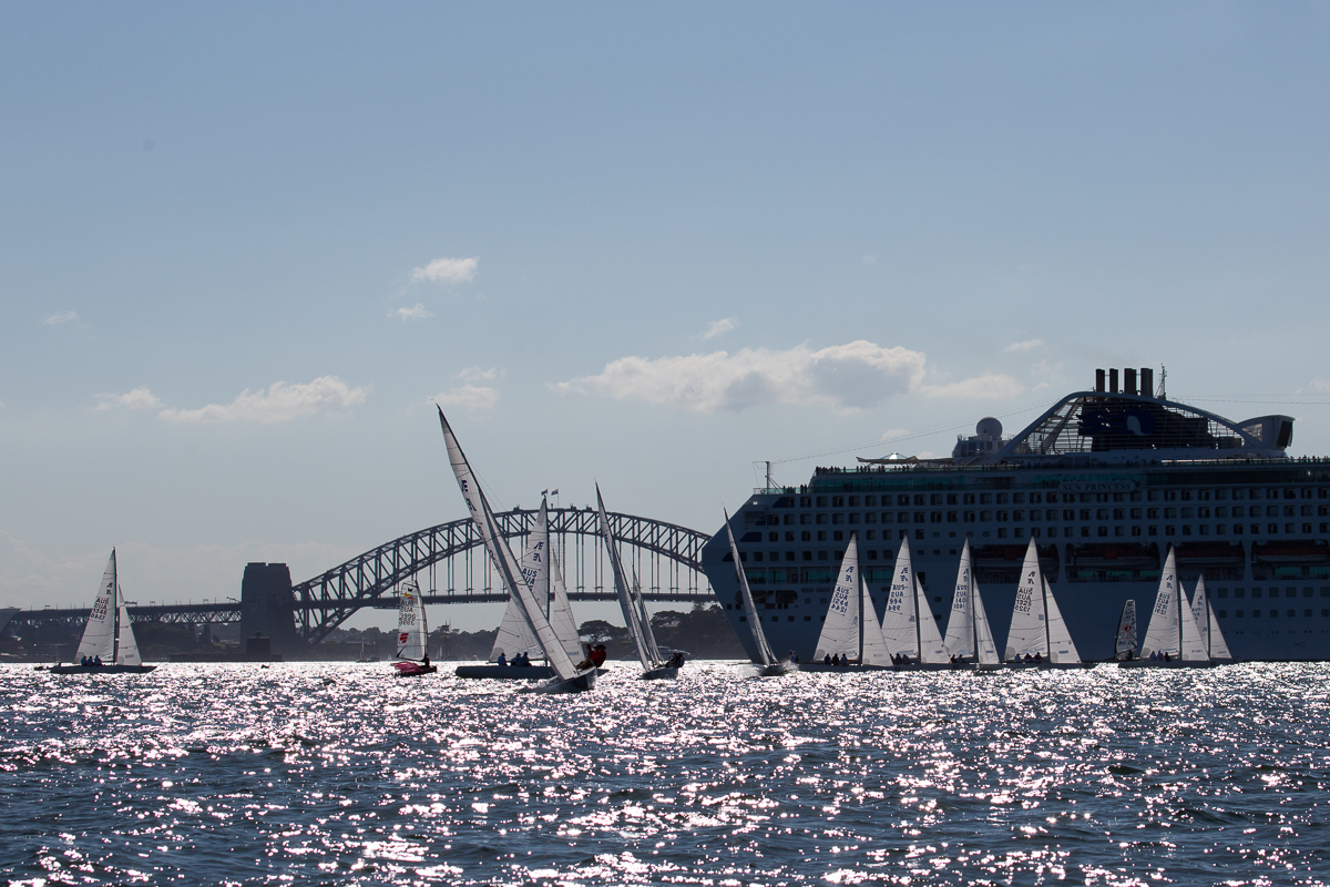 Distinctly Sydney – Etchells, Cruise Liner and Harbour Bridge
