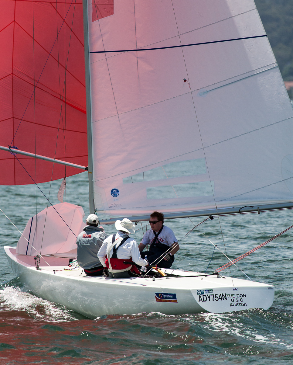 Regatta Chairman, Don Wilson, sailing aboard, The Don, at the previous title in Gosford