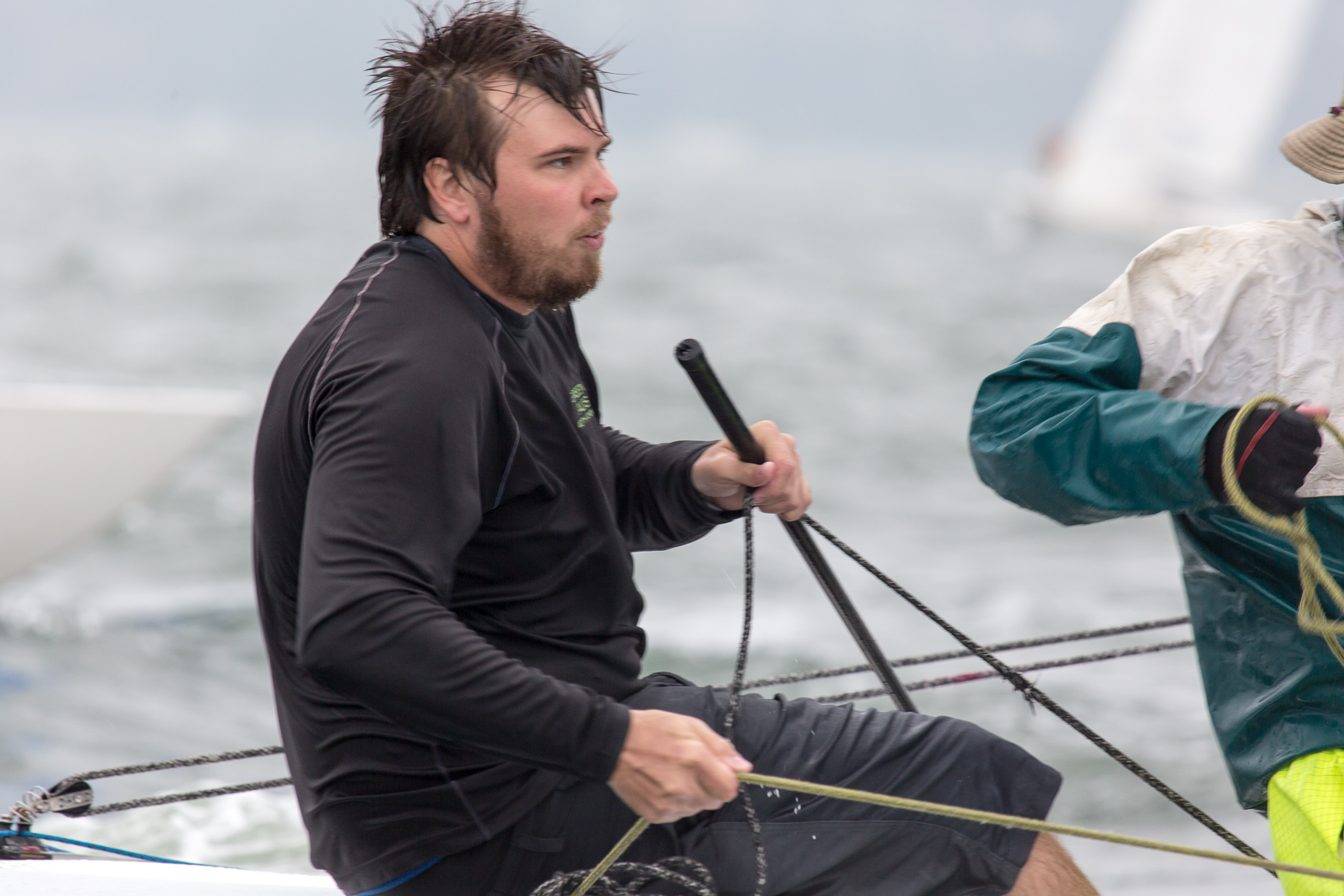 Local Gosford sailor, Luke Birch, on Greenback