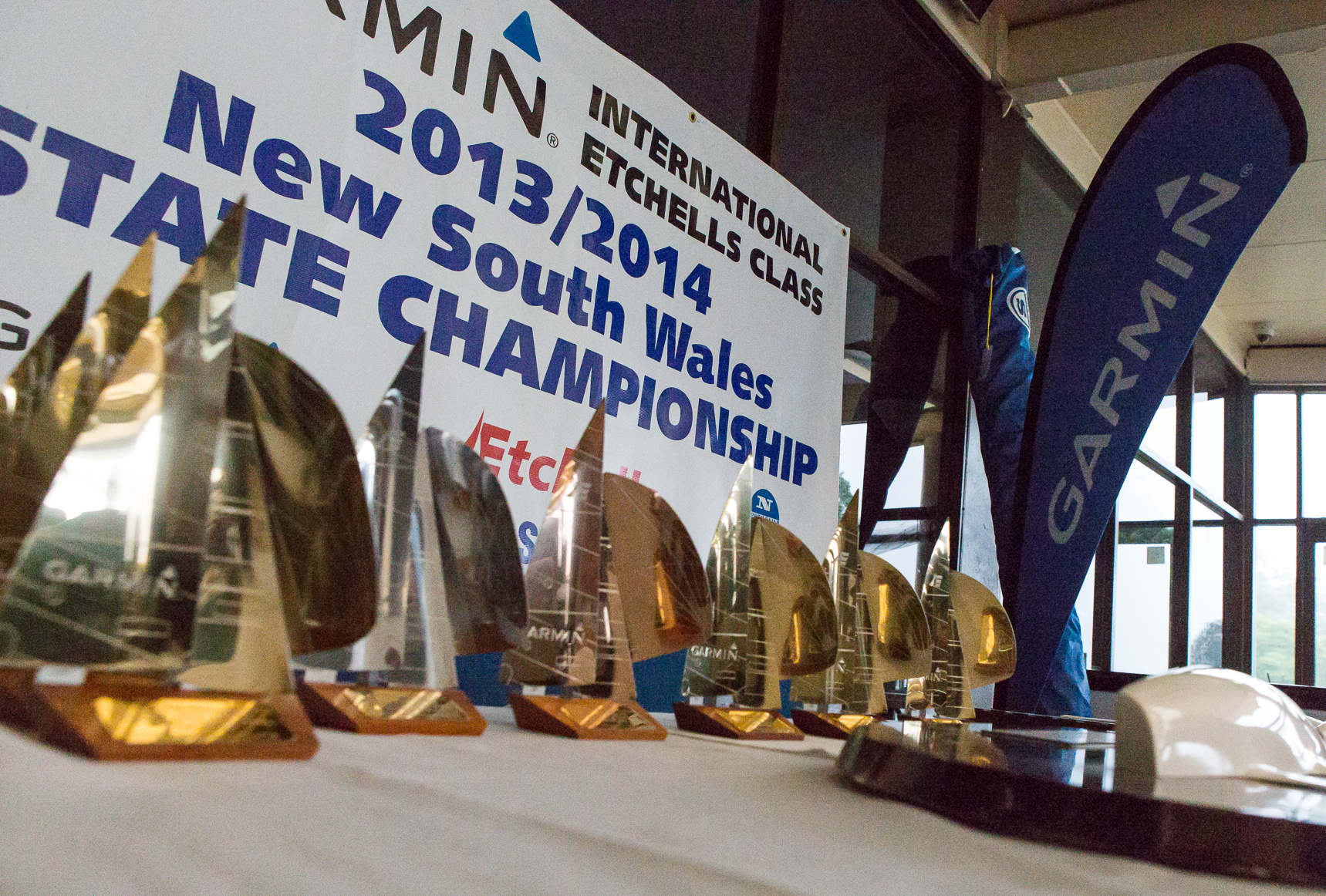 Part of the trophies and prizes on offer at this regatta